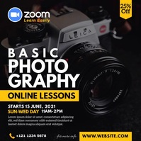 Online Photography Lessons Advert Wpis na Instagrama template