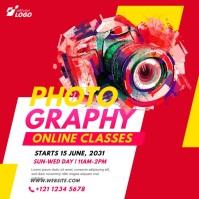 Online Photography Lessons Advert Сообщение Instagram template