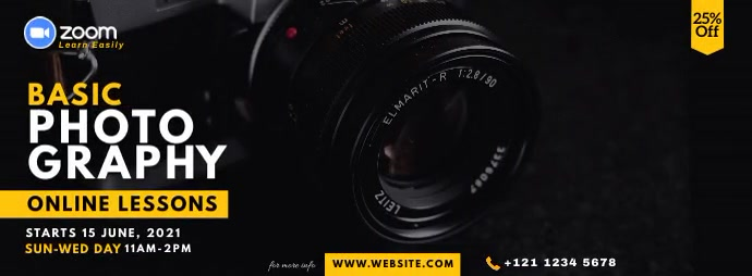 Online Photography Lessons Foto Sampul Facebook template
