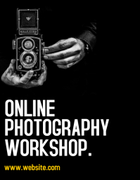 online photography workshop flyer advertiseme