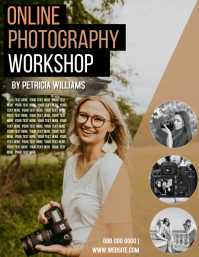 ONLINE PHOTOGRAPHY WORKSHOP FLYER template