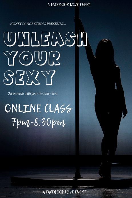 Online pole dancing fitness exercise class