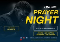 ONLINE PRAYER NIGHT FLYER A2 template
