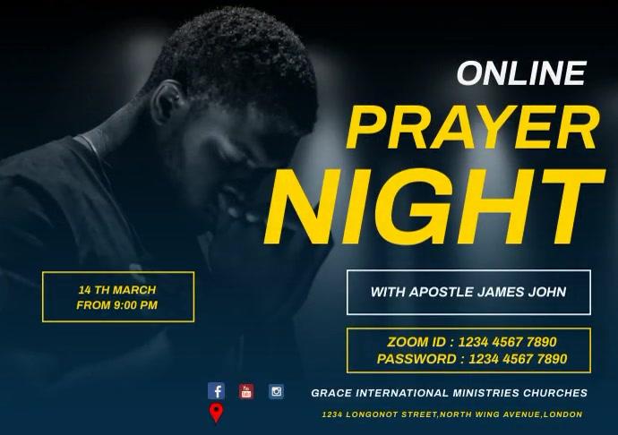 ONLINE PRAYER NIGHT FLYER A2 template