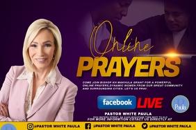 ONLINE PRAYER SESSION Etiqueta template