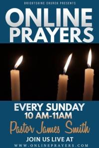 Online Prayers Poster Template