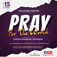 Online Prayers Poster Template Free Kwadrat (1:1)
