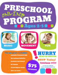 Online Preschool Program