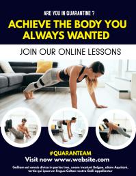 online pt lessons flyer advertisement Ulotka (US Letter) template