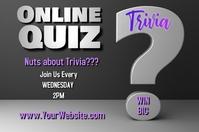 Online Quiz Affiche template