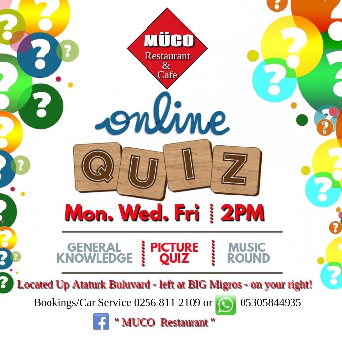 Online Quiz Kvadrat (1:1) template