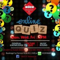 Online Quiz Quadrado (1:1) template