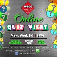 Online Quiz Cuadrado (1:1) template