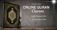 Online quran classes, islamic, event,retail Facebook Shared Image template