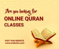 Online quran classes, islamic, event,retail Persegi Panjang Besar template