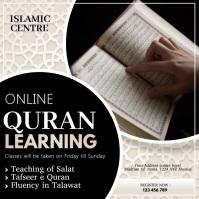 Online Quran classes, Quran Instagram Post template
