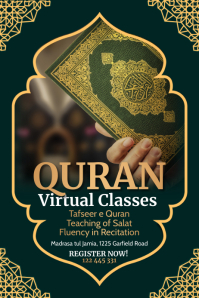 Online Quran classes, Quran Poster template