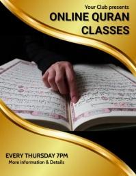 Online quran classes,quran,event,retail Flyer (US Letter) template