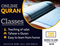 Online Quran classes,Quran,ramadan Flyer (format US Letter) template
