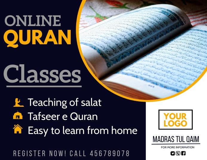 Online Quran classes,Quran,ramadan Volante (Carta US) template