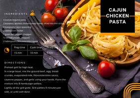 Online Recipe Card Editable