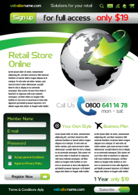 Online Retail Flyer Template A4