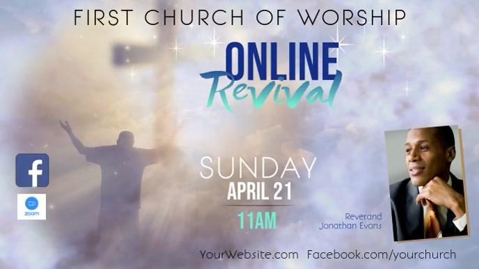 ONLINE Revival Event Display video Tampilan Digital (16:9) template