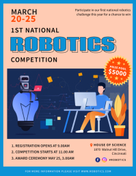 Online Robotics Competition Flyer Template Pamflet (VSA Brief)