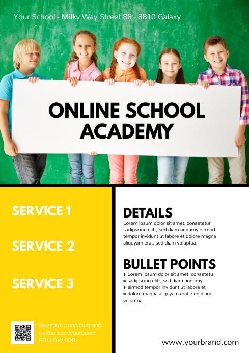 Online School Academy Educational Flyer Ad
