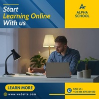 online school and lessons advertising Publicação no Instagram template