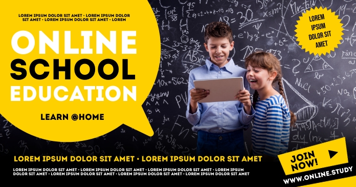 ONLINE SCHOOL BANNER Facebook Shared Image template