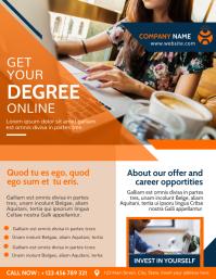 online school college flyer advertisement Volante (Carta US) template
