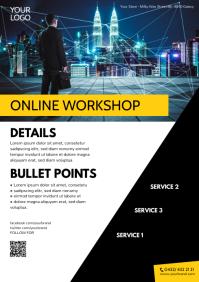 Online School Course Workshop Mobile Internet A4 template