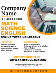 Online school flyer advertisement