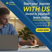 online school instagram post banner advertisi template