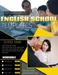 ONLINE SCHOOL LEARNER LEARNING TEMPLATE Flyer (US Letter)