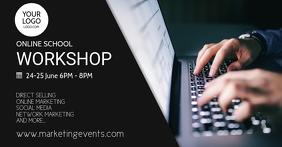 Online School Workshop Elearning Banner Ad