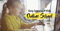 Online School Workshop Elearning Kids Banner Изображение, которым поделились на Facebook template