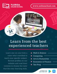 Online Schooling Ad Flyer