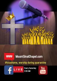 Online service/quarantine/stay home/church