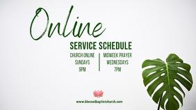 Online Service Schedule Umbukiso Wedijithali (16:9) template