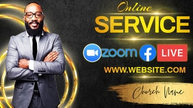 online service sermon post template