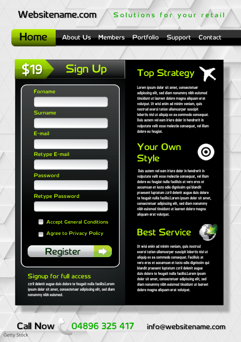 Online Services Company Flyer