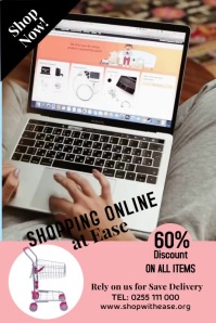 Online shopping 1 Plakat template
