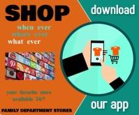 online shopping/download app/social media Средний прямоугольник template