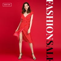 Online Shopping Fashion Ad Album Cover template