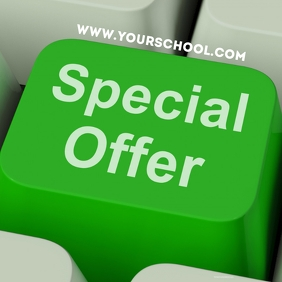 Online Shopping special offer eschool advert Instagram Post template