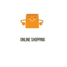 ONLINE SHOPPING WEBSITE LOGO SOCIAL MEDIA Square (1:1) template