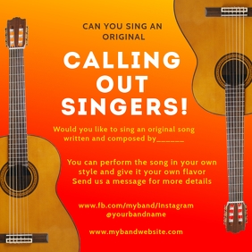 Online Singing Performance Template Square (1:1)