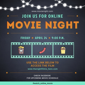 Online Social Media Movie Watch Party Invite